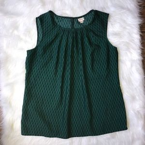 Women's blue and green camisole tank